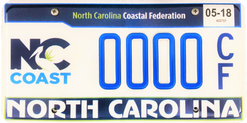 NC Coastal Federation License Plate
