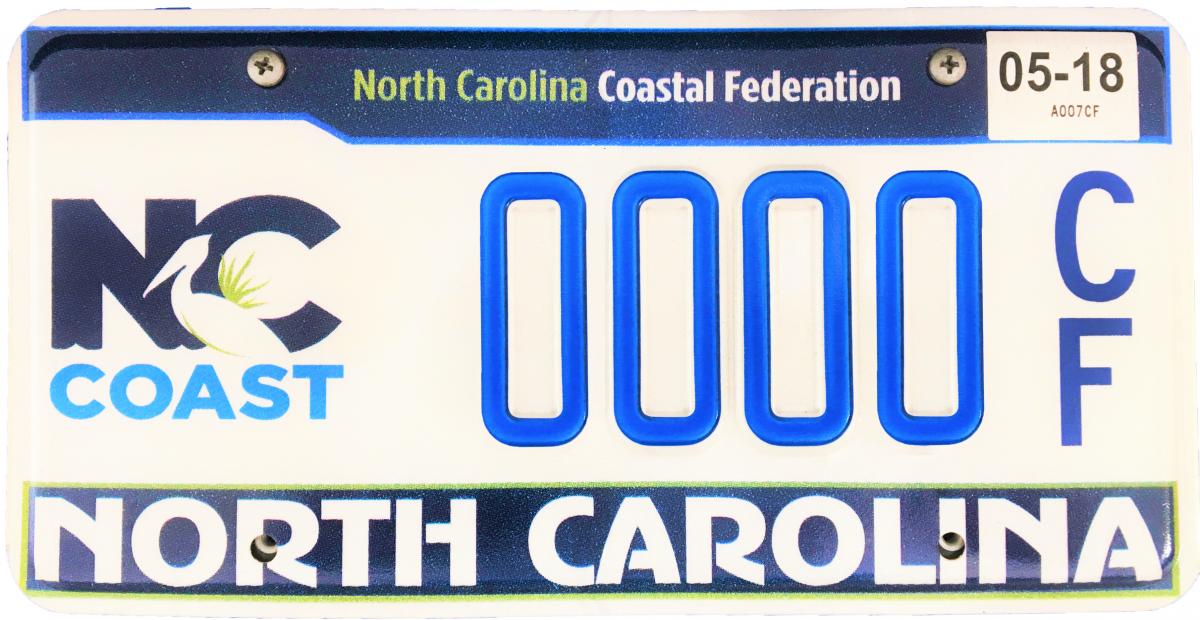 Get Your NC Coast License Plate   North Carolina Coastal Federation