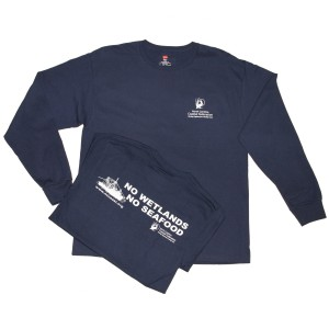 Long Sleeve No Wetlands No Seafood T-shirt
