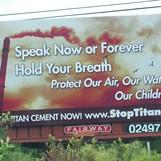 Anti-Titan billboard
