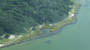 After Aerial Photograph: A Living shoreline at Springer's Point Nature Preserve, Ocracoke, 2014