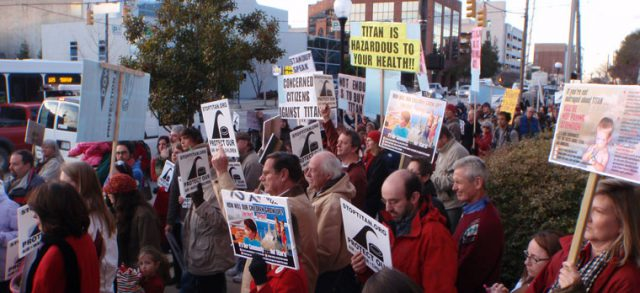 Stop Titan Cement Protest