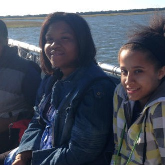 Eighth grader from Jones Middle School joined the N.C. Coastal Federation on a trip to Bear Island.