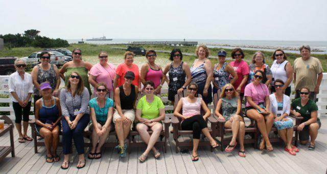 The N.C. Coastal Federation educates teachers as well as students. This group of teachers participated in a science-based seminar at the N.C. Center for the Advancement of Teaching on Ocracoke Island.