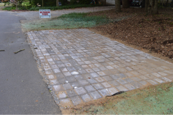 Pervious pavers allow rainwater to soak through, and can replace traditional pavement for parking