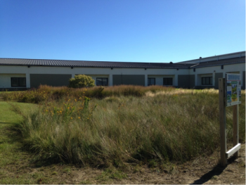 Rain garden site at First Flight Middle School.
