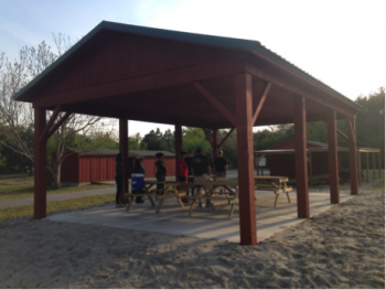 The Beaufort Wine and Food organization supported a new sun shelter for the EarthWise Farm