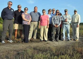 From left to right: Dean Carpenter, APNEP; Mark Smith, North Carolina Coastal Federation; Stacey Feken, APNEP; Jimmy Johnson, APNEP; Rhonda Evan, Region IV, EPA; Ellen Gilinsky, EPA Office of Water; Marcus Zobrist, EPA Headquarters; Vince Bacalan, EPA Headquarters; Joanne Benante, Region IV, EPA; Jud Kensorthy, NOAA, retired; Bill Crowell, APNEP.