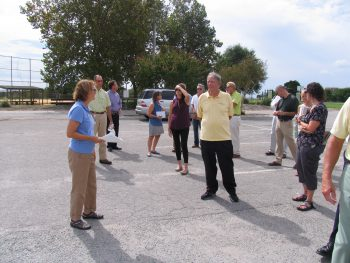 Tracy Skrabal, coastal scientist for the federation, led the tour that highlights low-impact development, or LID.