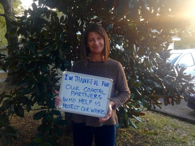 "Lauren Kolodij, deputy director, is thankful for ""our coastal partners who help us protect our waters."""