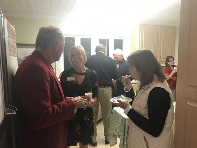 Attendees had apple cider, desserts and chips and dip at the Wrightsville Beach volunteer party.