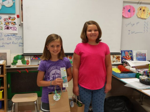 Manteo Elementary (left to right): Alissa Tolson (first-place) and Anna Claire Cruden (third-place)