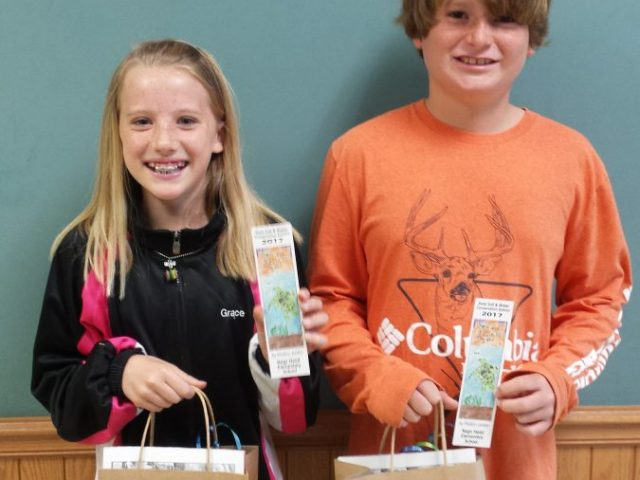 Nags Head Elementary (left to right): Grace Garman (third-place) and Preston Jordan (first-place)