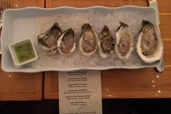 Tasting of North Carolina Oysters