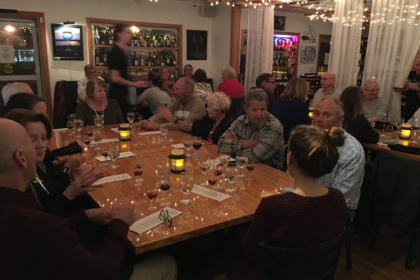 Dinner guests enjoyed learning about — and eating — oysters.