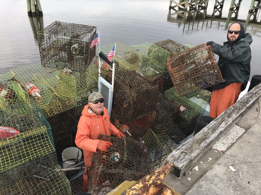 Commercial Fishermen that work as part of the Lost Fishing Gear Recovery Project
