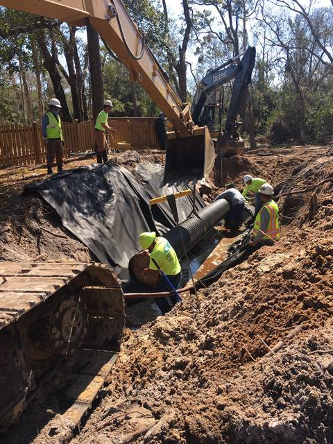 Crews working on stormwater reduction solutions